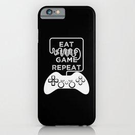 Eat Sleep Game Repeat iPhone Case
