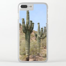A Cacti in the Desert Clear iPhone Case