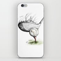 golf iPhone & iPod Skins featuring  Golf  by Eyad Shtaiwe