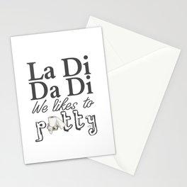 La Di Da Di on White Stationery Cards