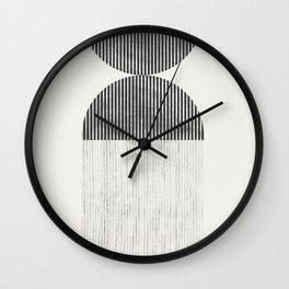 Woodblock Paper Graphic_01 Wall Clock
