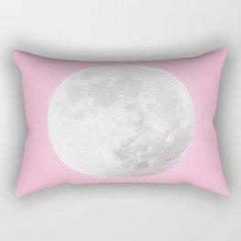 WHITE MOON + PINK SKY Rectangular Pillow