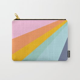 Colorful Retro Abstract Geometric Diagonal Stripes  Carry-All Pouch
