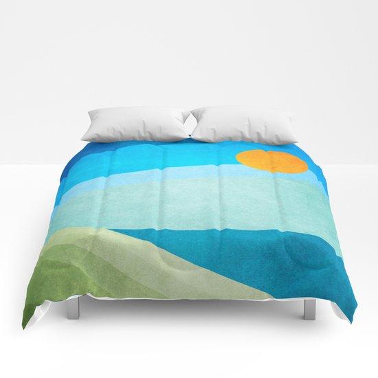 Green Fields Blue Waters Comforters