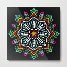 Mandala Pattern Octagon Mandala Colorful Metal Print