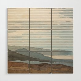 Salton Sea Landscape Wood Wall Art