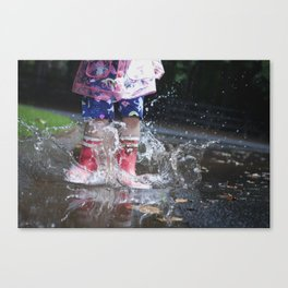 Puddle Splashin' Canvas Print