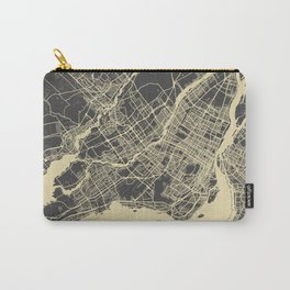 Montreal Map yellow Carry-All Pouch