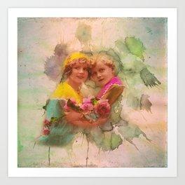 Vintage childhood of the last century Art Print
