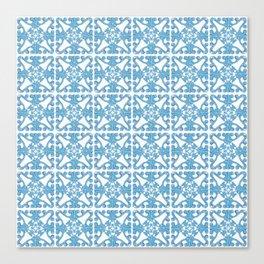 Scrolling blue Canvas Print