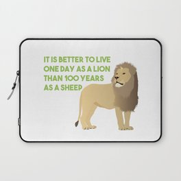 Lion Smart Motivational Quote Laptop Sleeve