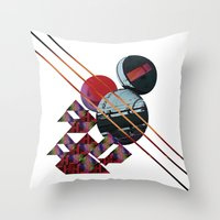 2001 a space odyssey Throw Pillows featuring 2001 a space odyssey by lina
