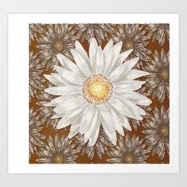 Flowers on Flowers Art Print