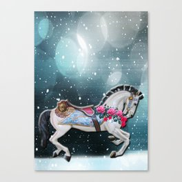 Rocking horse in the stars Canvas Print