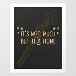 But Its Home Potter Puff Art Print