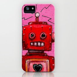 Orange-bot iPhone Case