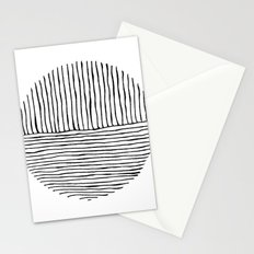 Circle : Vertical / Horizontal Stationery Cards