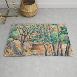 Paul Cézanne - Millstone and Cistern under Trees Rug