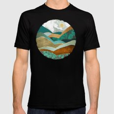 Golden Hills Mens Fitted Tee MEDIUM Black