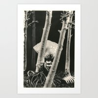 tim burton Art Prints featuring Oyster Boy - tim burton by PaperTigress