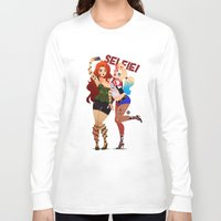 selfie Long Sleeve T-shirts featuring Selfie! by Awdrey