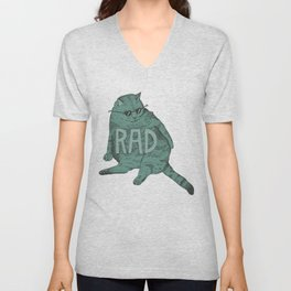 Rad Cat Unisex V-Neck