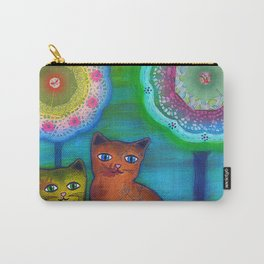 Cats and Trees Carry-All Pouch