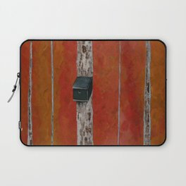 Bird House On Birch Tree Laptop Sleeve