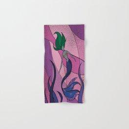 Mermaid Stained Glass (Royal) Hand & Bath Towel