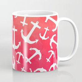 Tropical sunset watercolor nautical anchors Coffee Mug