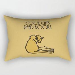Cool cats read books Rectangular Pillow