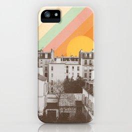 Rainbow Sky Above Paris iPhone Case