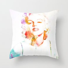 Marilyn Monroe Watercolor Pop Art33 Throw Pillow