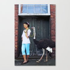 Rein It In - Ostrich Oda Canvas Print