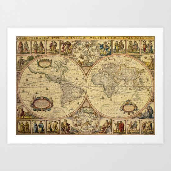 The puzzled world Art Print