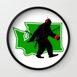 Bigfoot walk in Washington Wall Clock