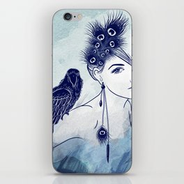 Parrot Girl iPhone Skin