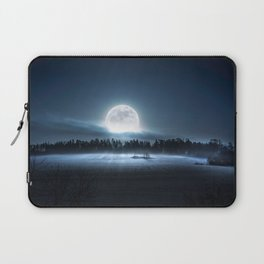 When the moon wakes up Laptop Sleeve