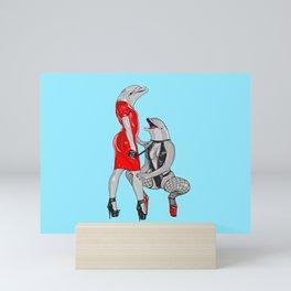 Deviant Dolphins Mini Art Print