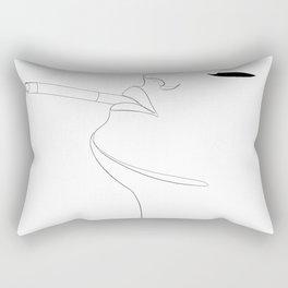 minimal line art - cigarette Rectangular Pillow