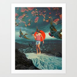 The Boy and the Birds Art Print