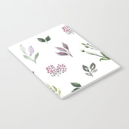 Tiny watercolor leaves Notebook