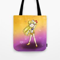 sailor venus Tote Bags featuring Sailor Venus by Thedustyphoenix