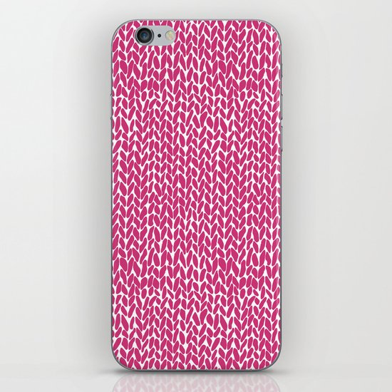 Hand Knit Hot Pink iPhone Skin