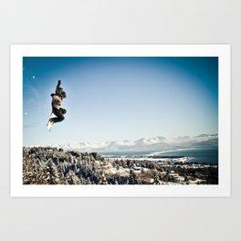 Snowbaorder Art Print