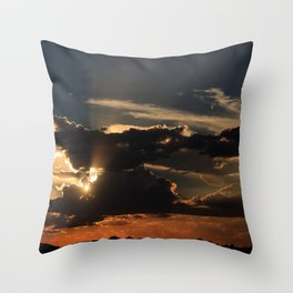 Desert Mountain Sunset III Throw Pillow