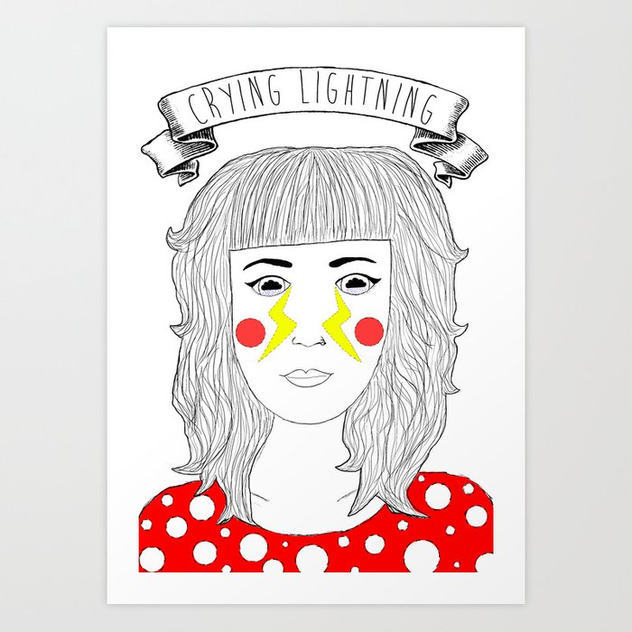 Crying Lightning by Arctic Monkeys inspired Art Print