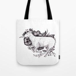 Sheep - Go Vegan Tote Bag