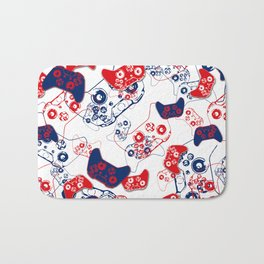 Video Game Red White & Blue 3 Bath Mat