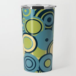 circles-blue-grn-cream Travel Mug